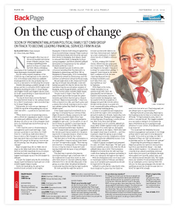 0912-asia-P32-Interview-on-the-ceo-of-CIMB-bank